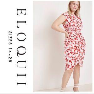ELOQUII   Floral Wrap Dress